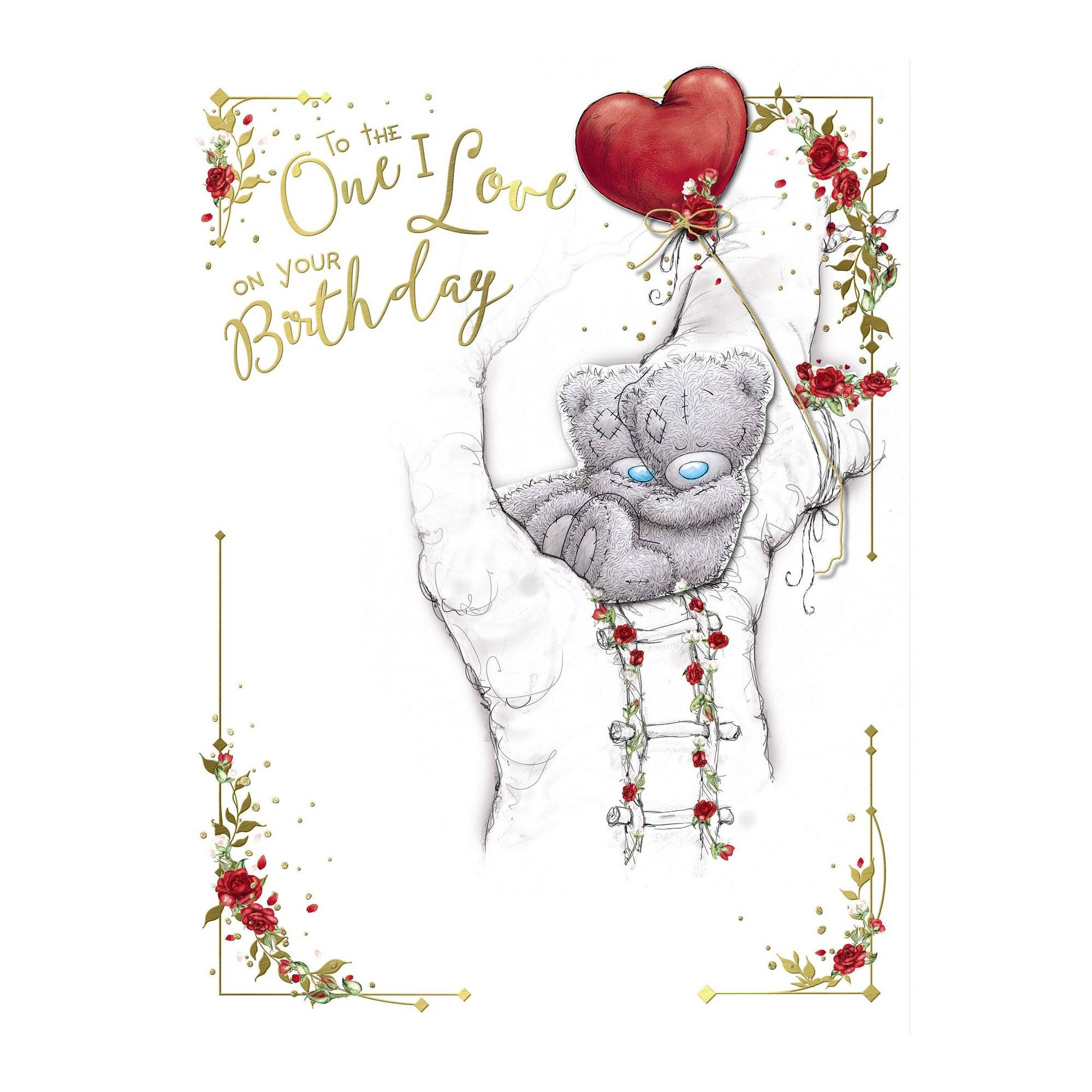 Me To You One I Love Boxed Birthday Card  - Multi