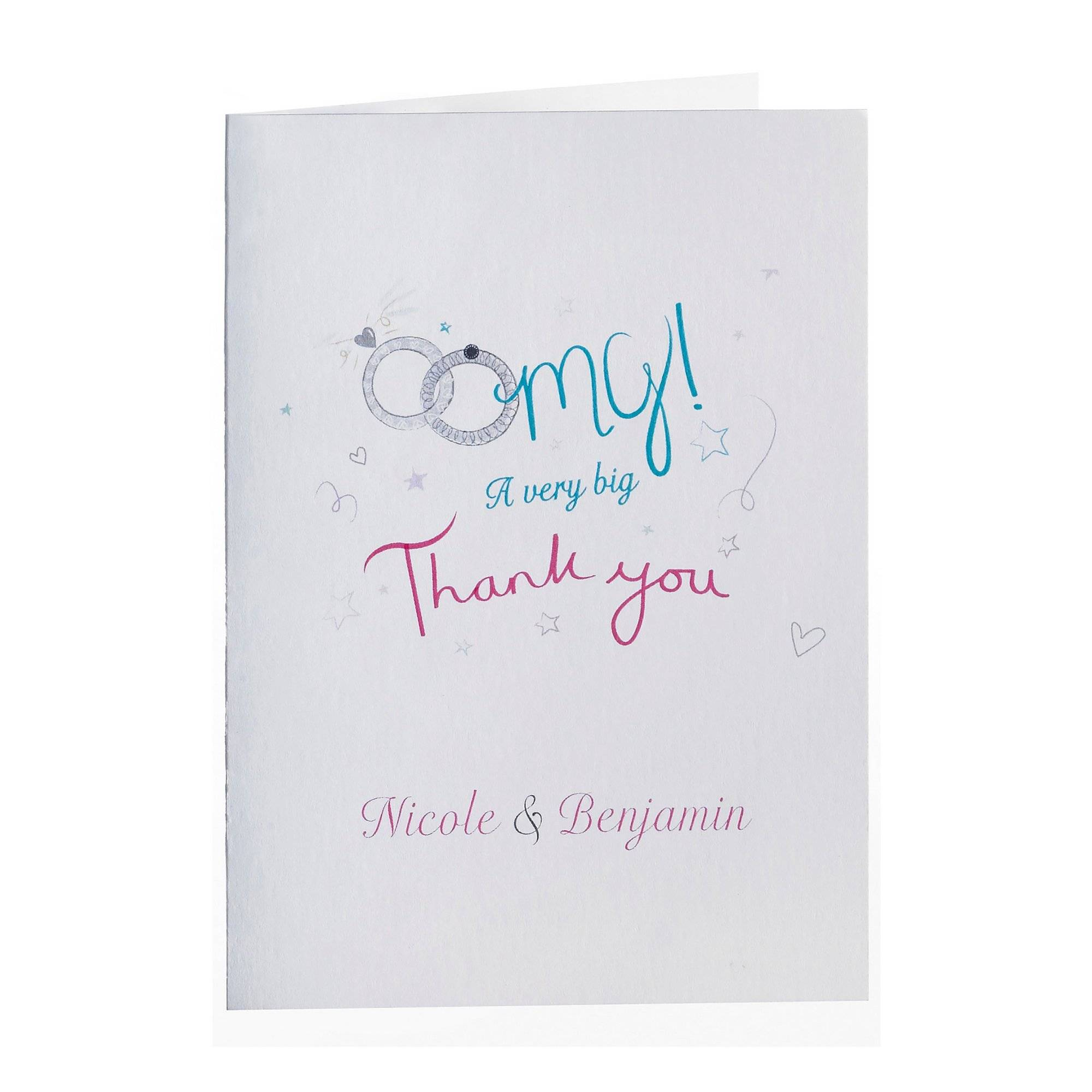 Studio Personalised OMG Thank You Cards  - Natural