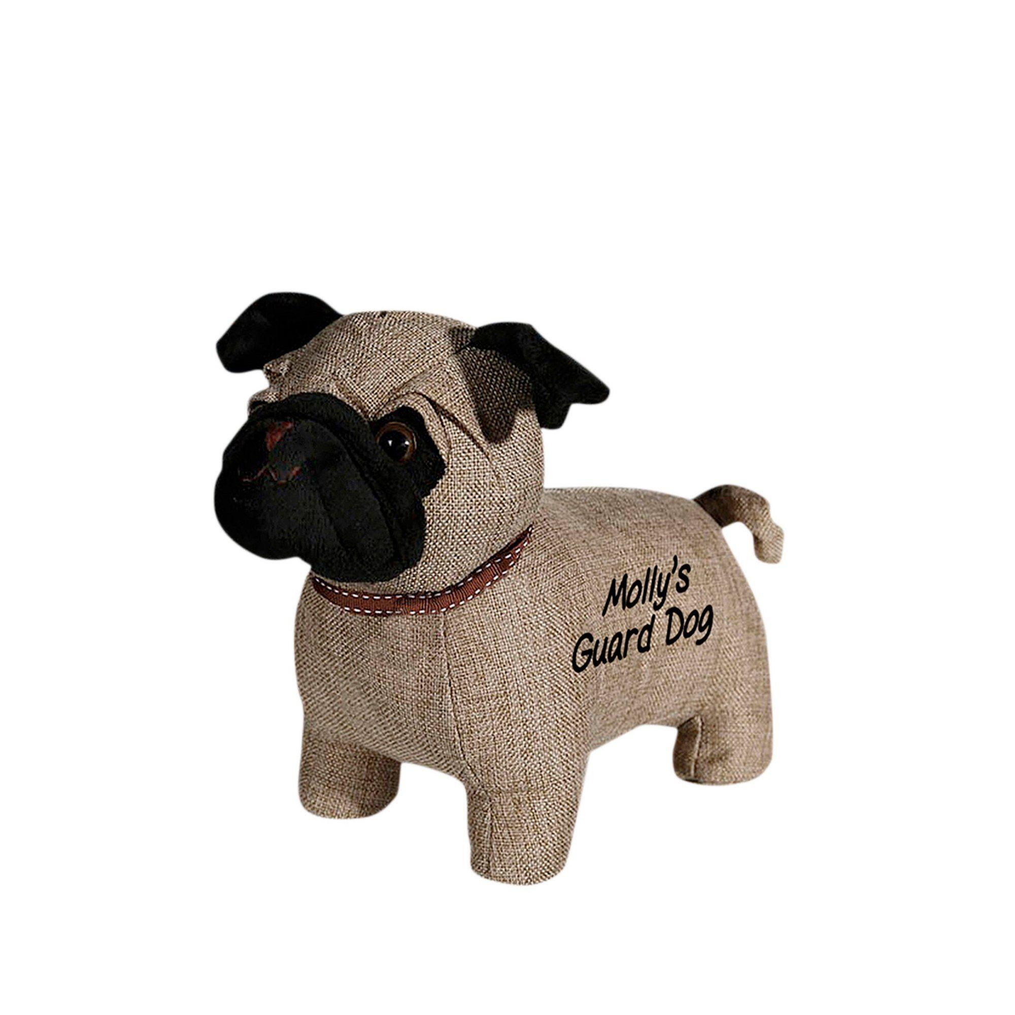 Studio Personalised Pug Doorstop  - Brown