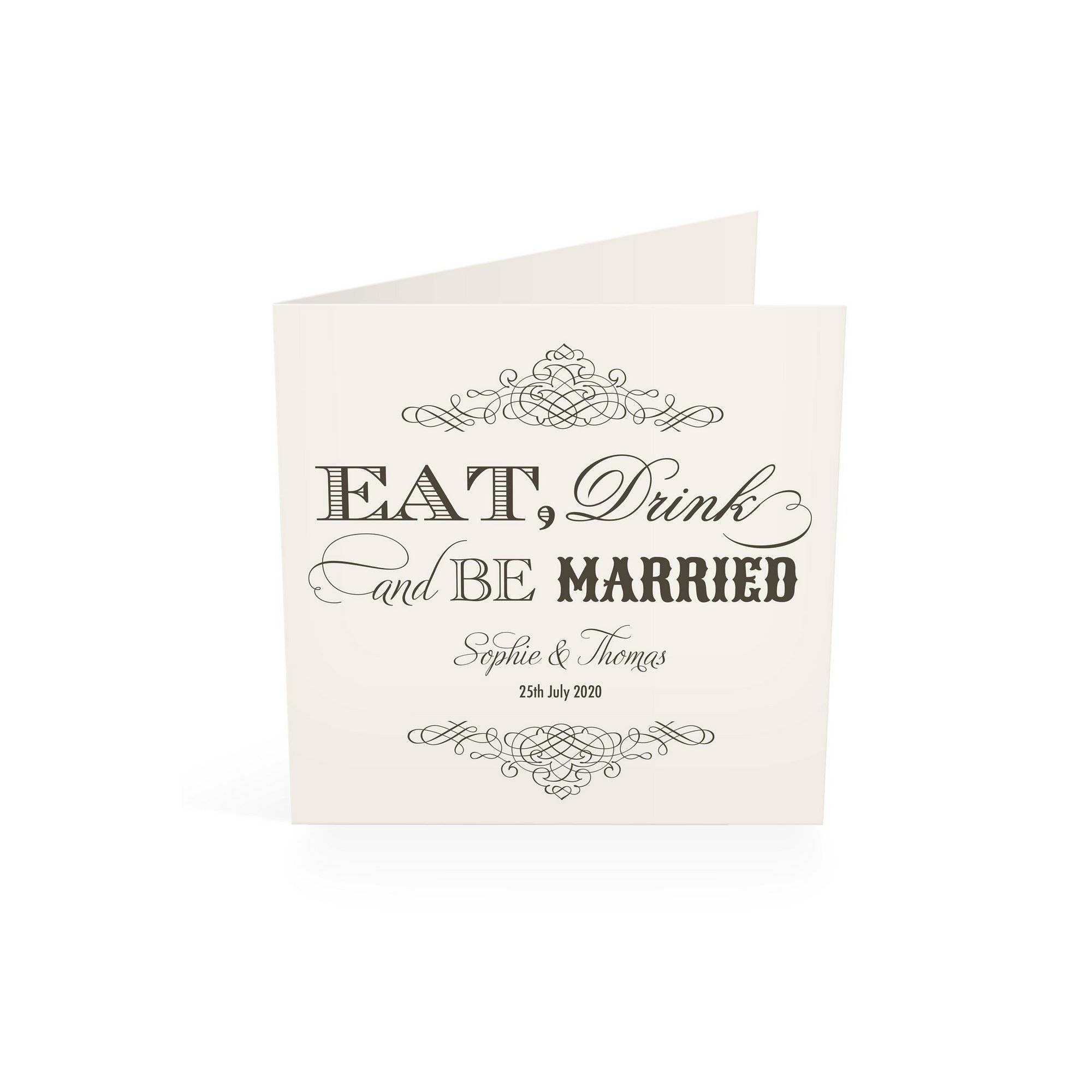 Studio Personalised 40 Eat Drink and Be Married Wedding Invitations  - Multi