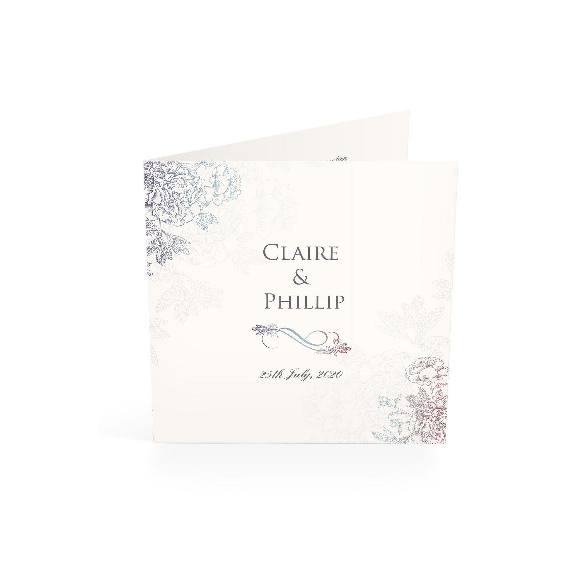 Studio Personalised 40 Delicate Floral Evening Invitations  - Multi