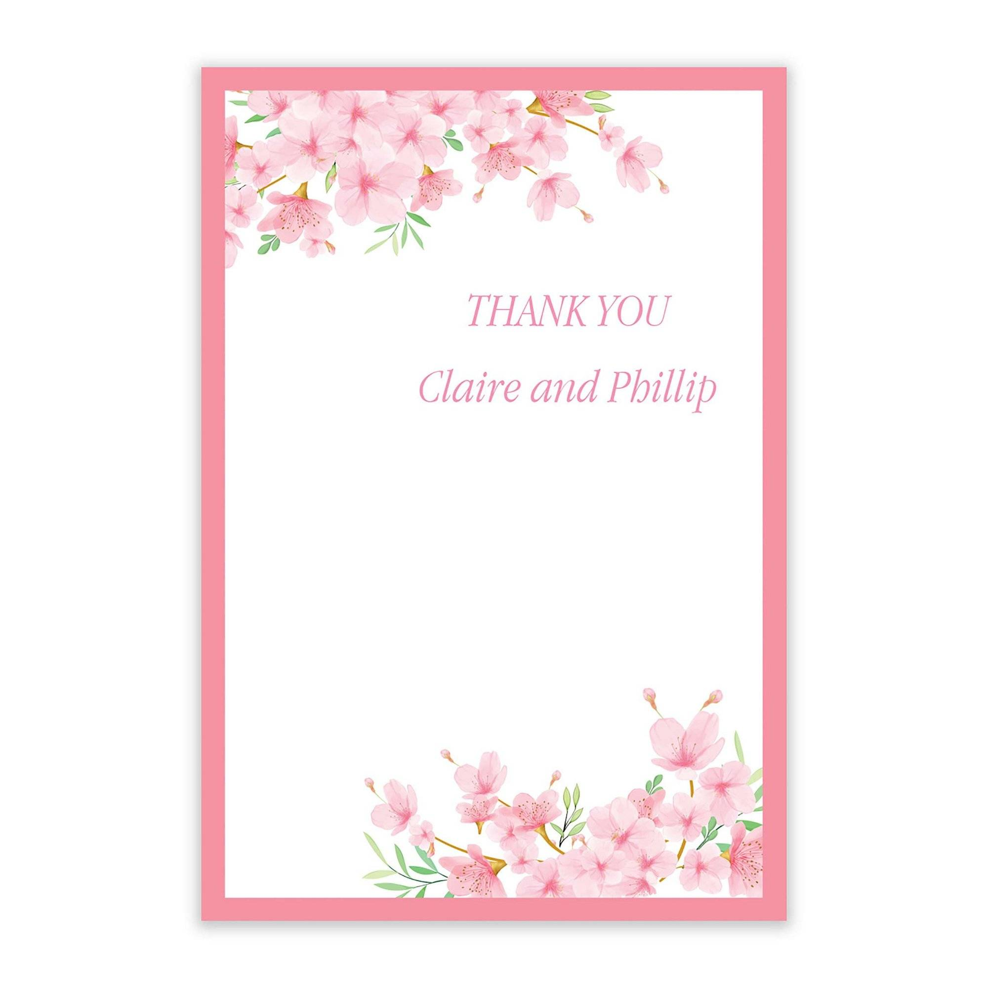 Studio 40 Cherry Blossom Thank You Cards  - Pink