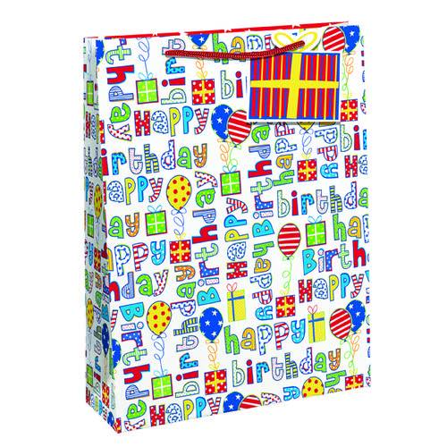 Unbranded Happy Birthday Gift Bag Large (Pack of 6) 26955-2