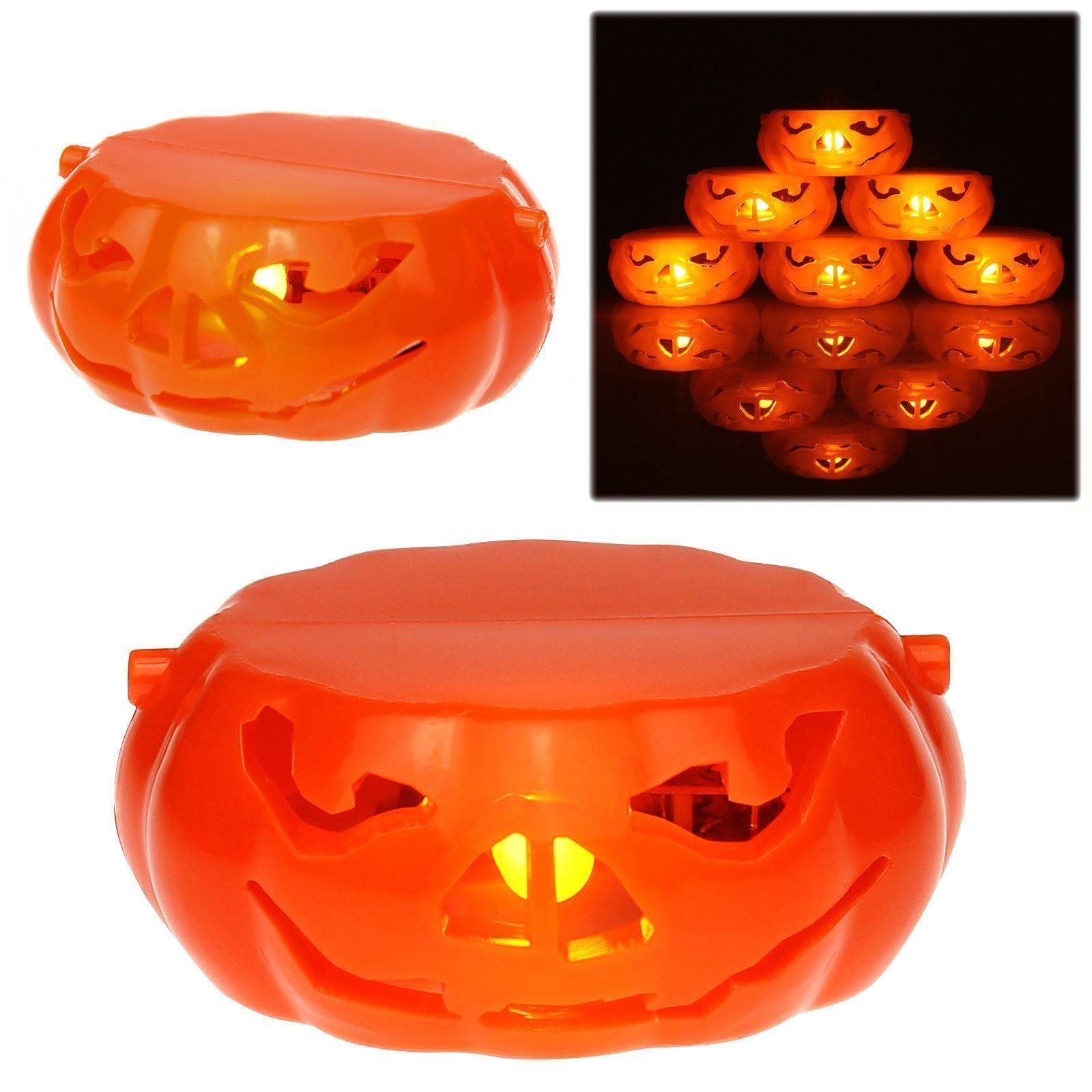 AMOS Flameless LED Pumpkin Tea Light Candle Battery Halloween Party Tealight New