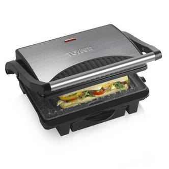 Tower T27009 Ceramic Stone Coated Health Grill Griddle 4 Portion