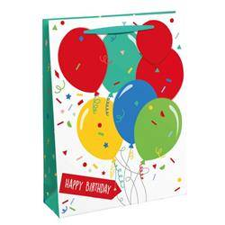 Unbranded Happy Birthday Balloon Gift Bag Large (Pack of 6) 26952-2