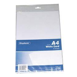 Stephens A4 White Craft Card (10 Pack)
