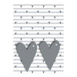Unbranded Grey Hearts Gift Wrap and Tags (Pack of 12) 27249-2S2T
