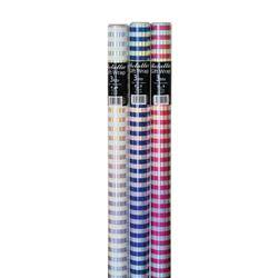 Unbranded Assorted Striped Foil Gift Wrap (Pack of 36) 26310-GW
