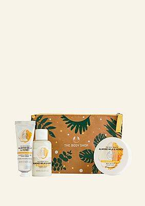 The Body Shop Soothing Almond Milk & Honey Gift Pouch Soothing Almond Milk & Honey Gift Pouch