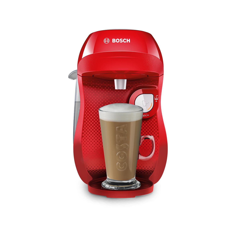 Bosch Tassimo by Bosch TAS1006GB Happy Pod Coffee Machine - Red & White