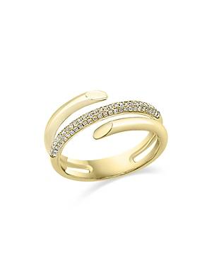 Bloomingdale's Diamond Pave Wrap Statement Ring in 14K Yellow Gold, 0.25 ct. t.w. - 100% Exclusive  - Gold