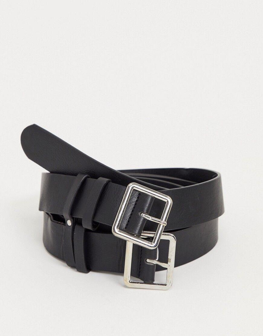 SVNX double belt in black  - Black - Size: One Size