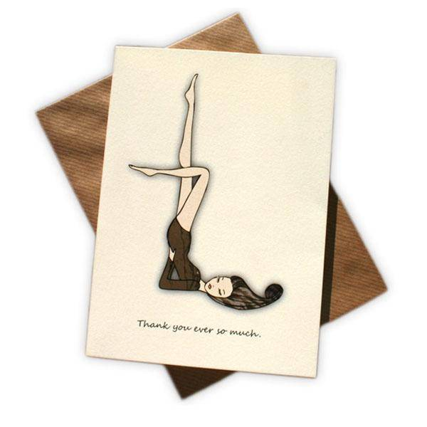 Black.co.uk Leotard Lady Thank You Cards - Pack of 8
