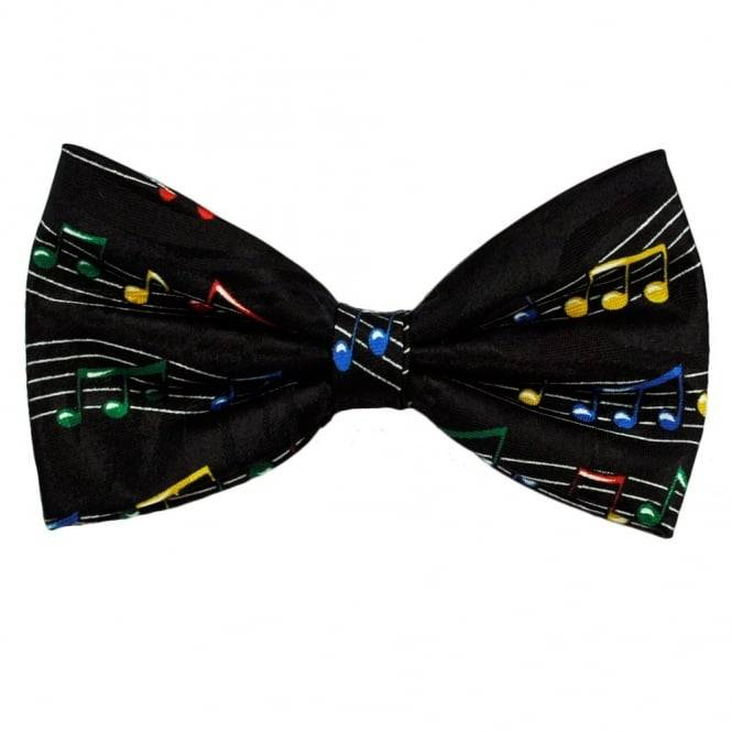 Colourful Music Notes Novelty Bow Tie