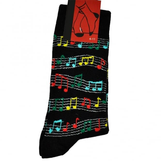 Colourful Music Notes Men's Novelty Socks