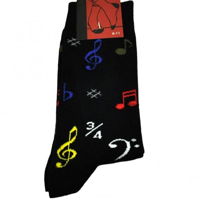 Music Notes & Symbols Men's Novelty Socks