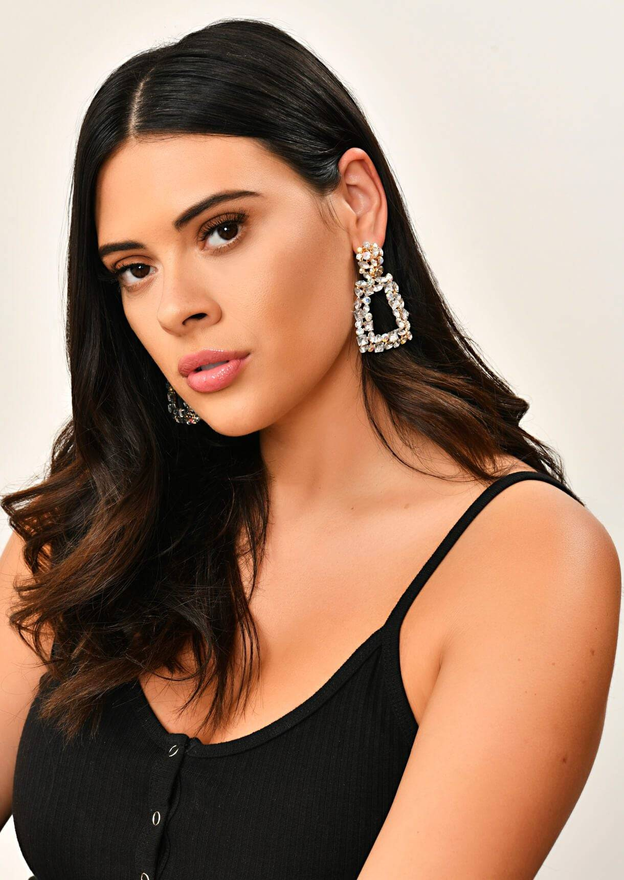 Impulse Fashion Accessories/ Gabby's Jewellery Gold Drop Square Earrings