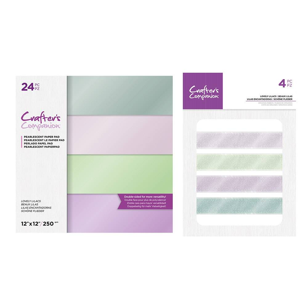 Crafter's Companion Crafters Companion - Lovely Lilacs Paper and Ribbon Collection