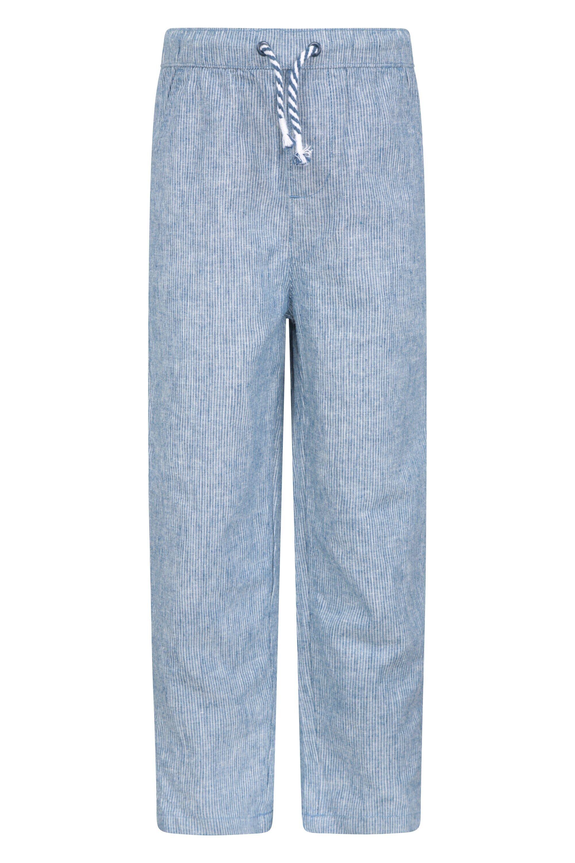 Mountain Warehouse Kids Striped Seersucker Trousers - Blue  -unisex -Size: 11-12y