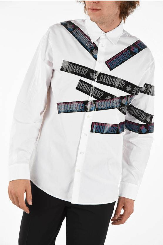 Dsquared2 Shirt DROPPED MILITARY FIT with Print size 48