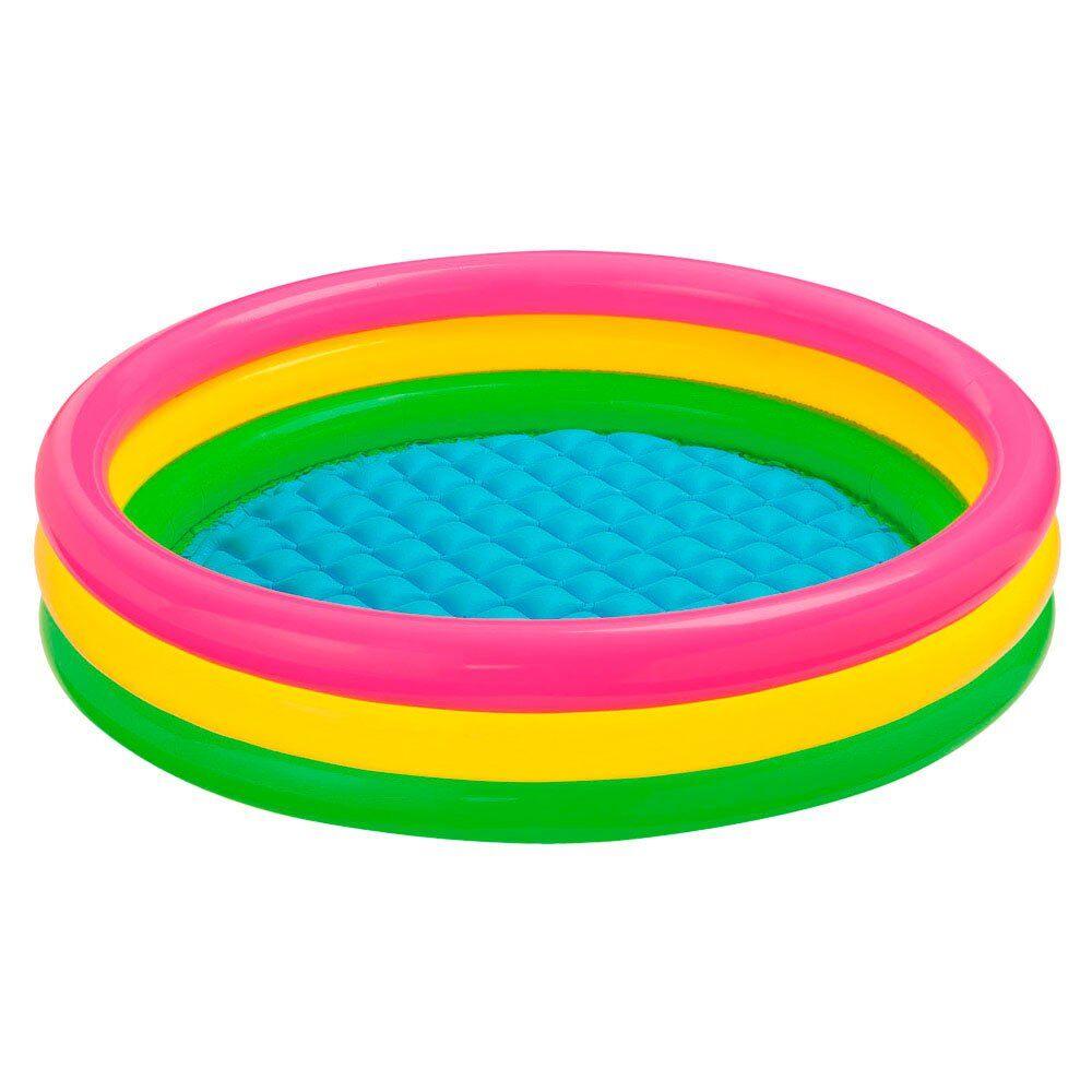 Intex Sunset 3 Rings Baby Pool 136 Liters  - Size: 136 Liters