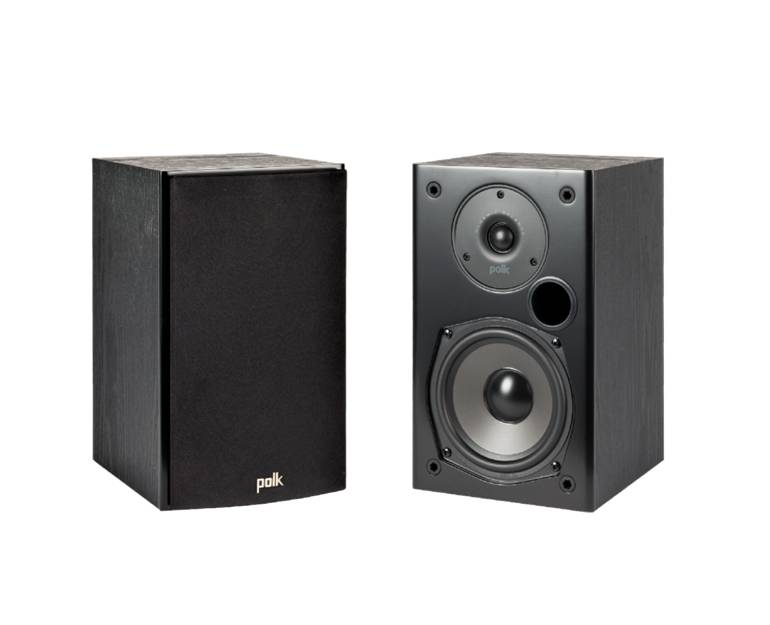 Polk Audio T15BK Home Theatre and Music Bookshelf Speakers Black