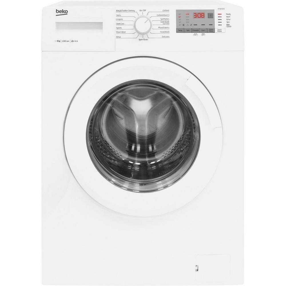 beko wtg841b1w 8kg 1400 spin washing machine white