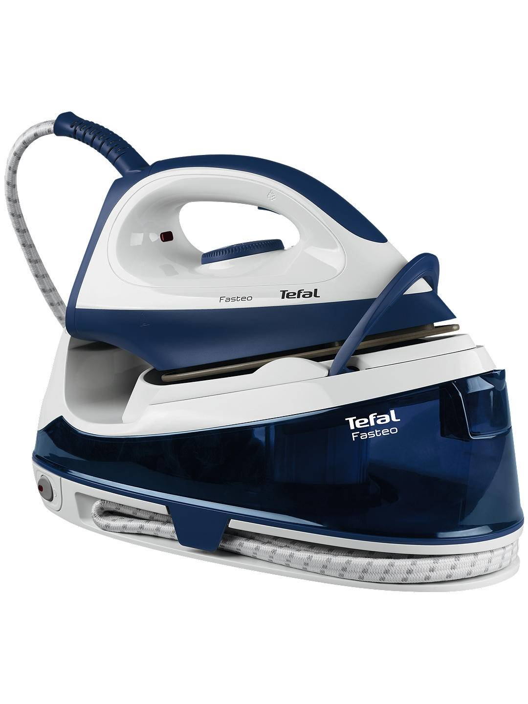tefal fasteo sv6040 steam generator iron blue white