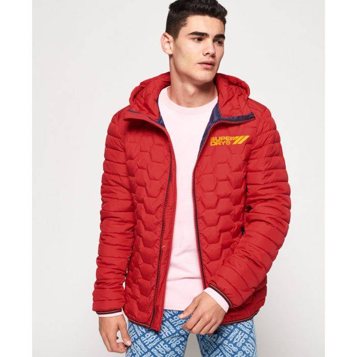 Superdry Hex Mix Down Jacket  - Red - Size: Small