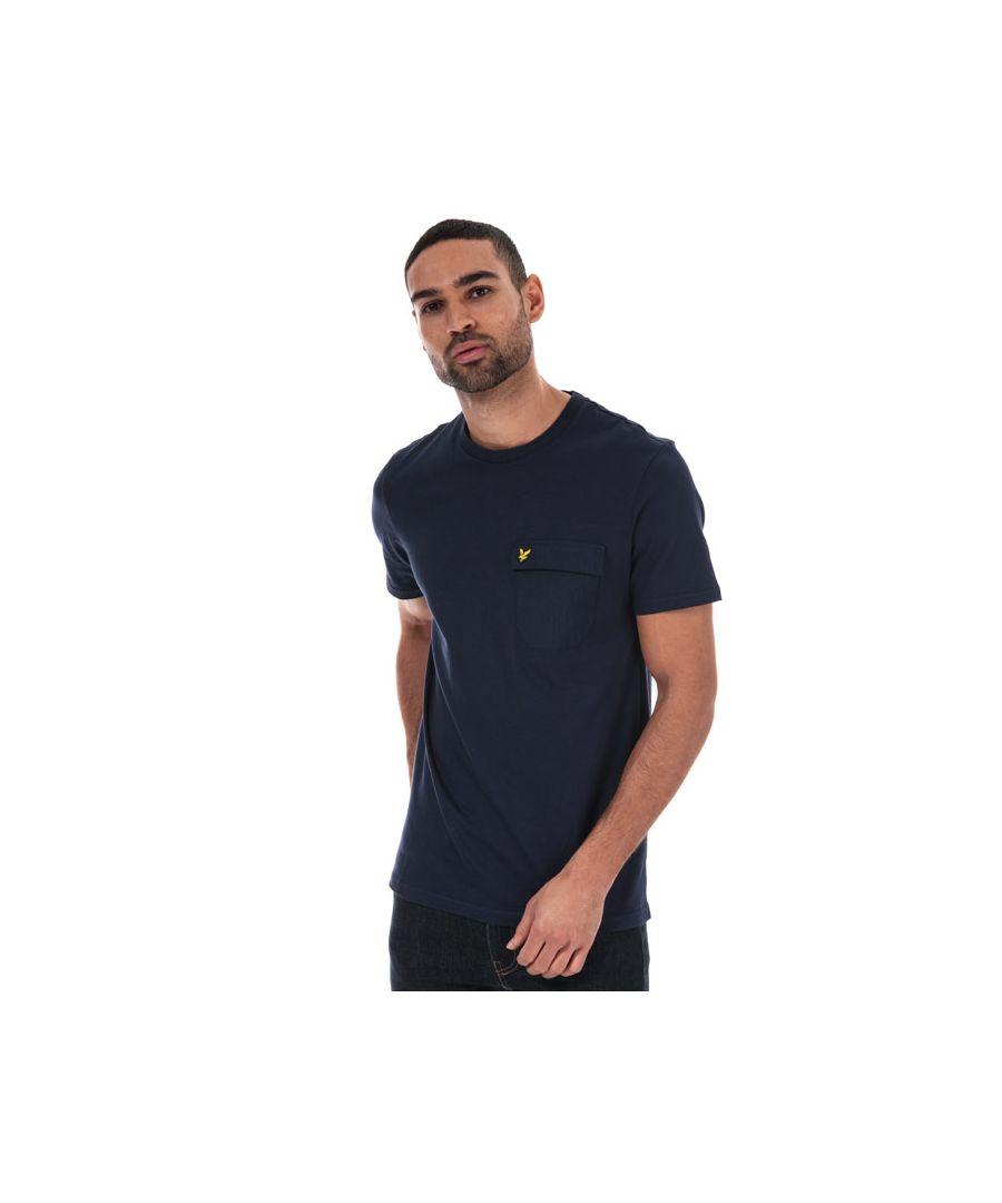 Scott Lyle & Scott Men's And Nylon Pocket T-shirt in Navy  - Blue - Size: Small