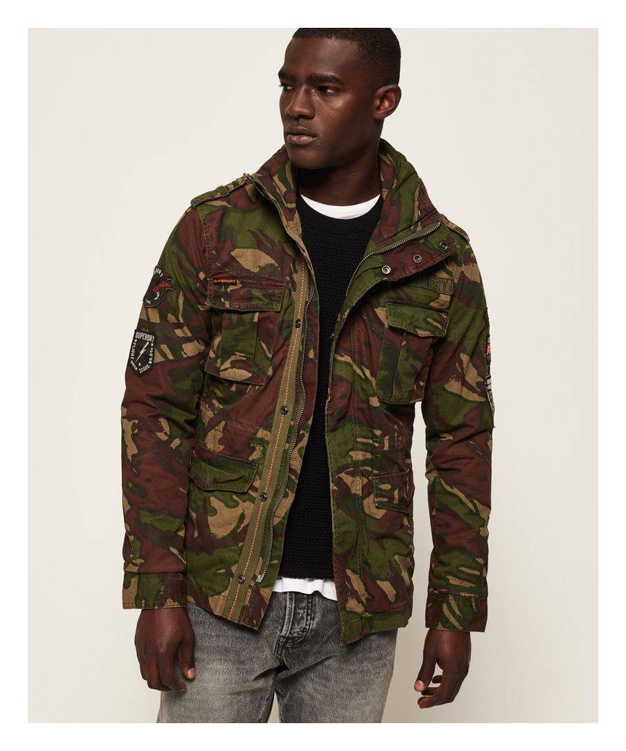 Superdry Hero Rookie Military Jacket  - Green - Size: Extra Large