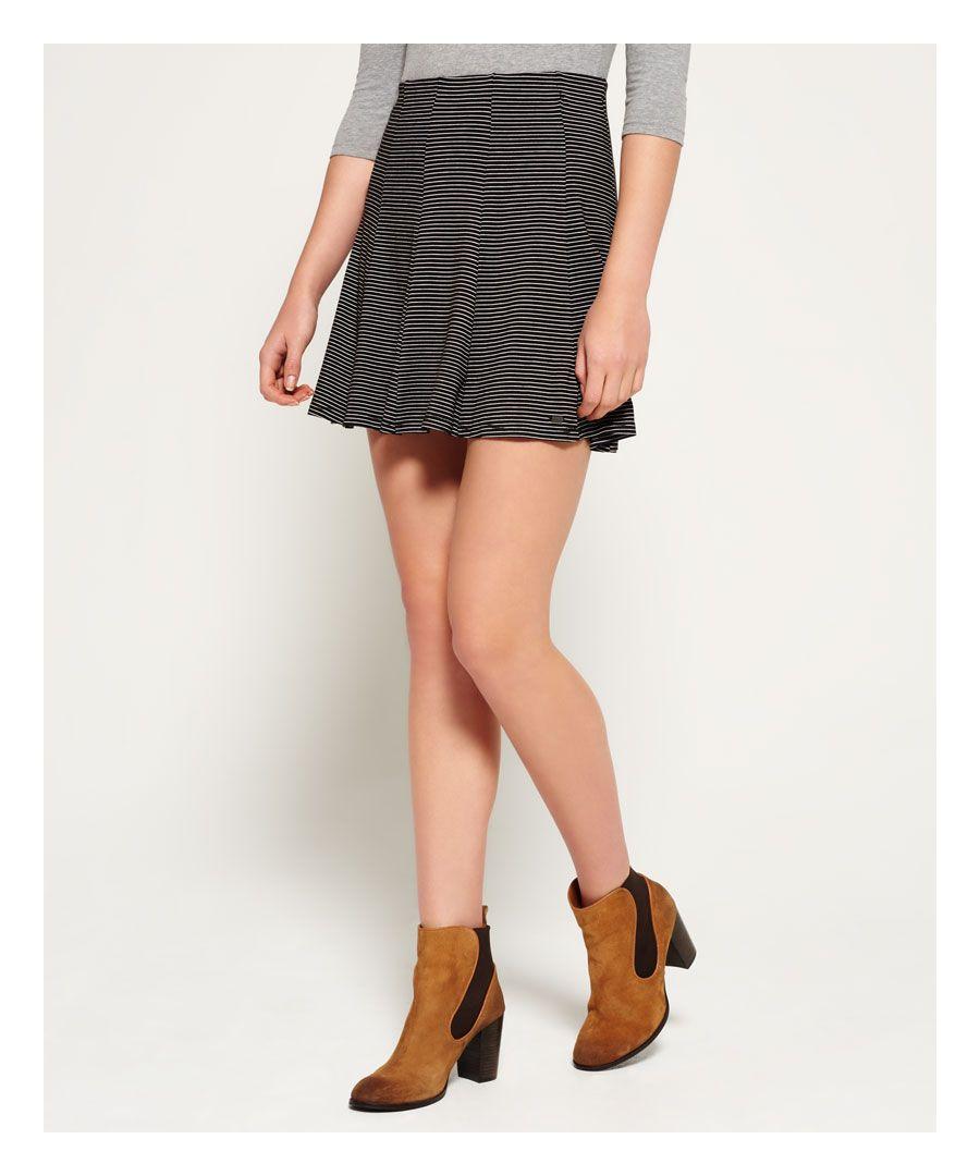 Superdry Asta Skater Skirt  - Black - Size: Medium
