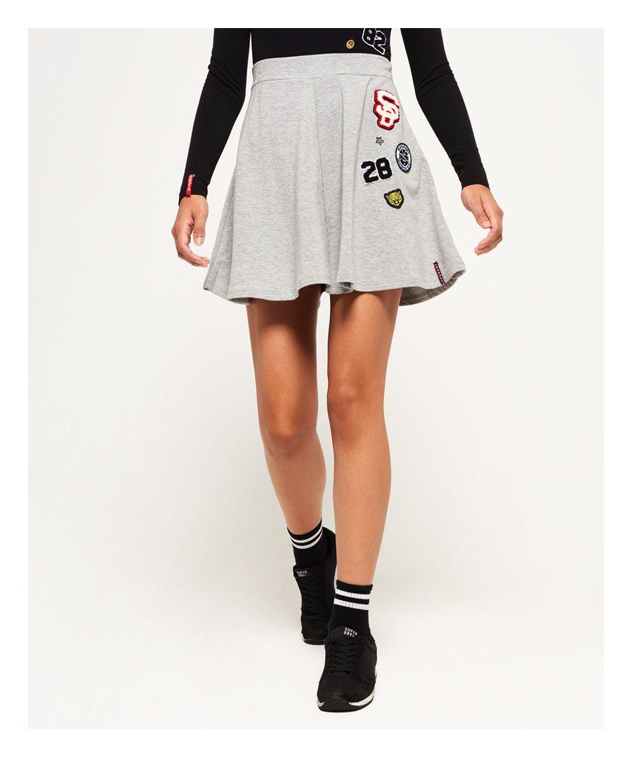 Superdry Karen Skater Skirt  - Grey - Size: Medium