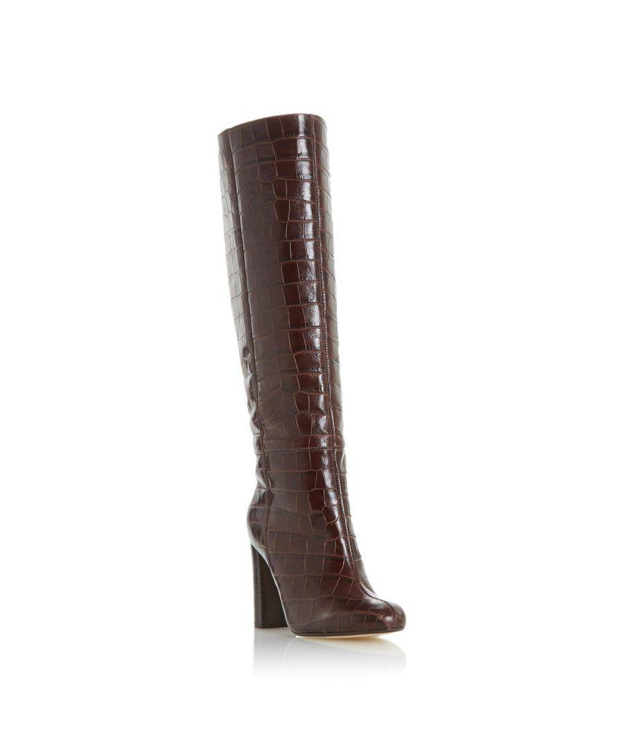 reserved high heel boots brown