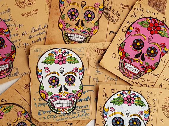 Scaramanga Vintage Postcard - Day Of The Dead