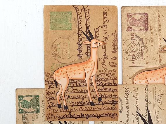Scaramanga Vintage Postcard - Dashing Deer