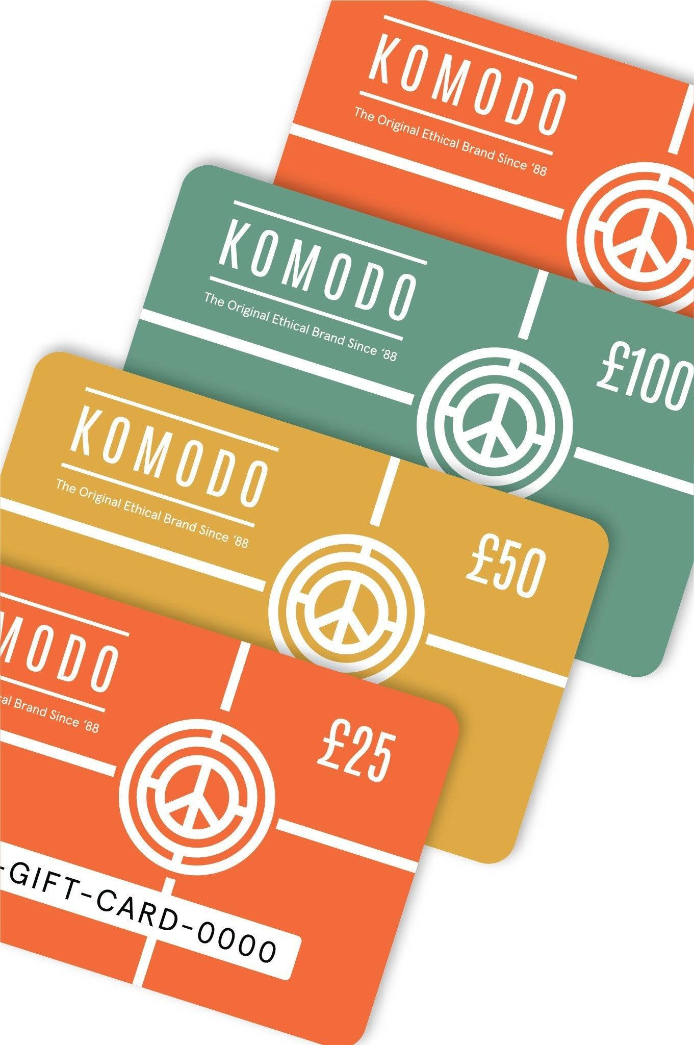 Komodo Gift Cards, £50.00