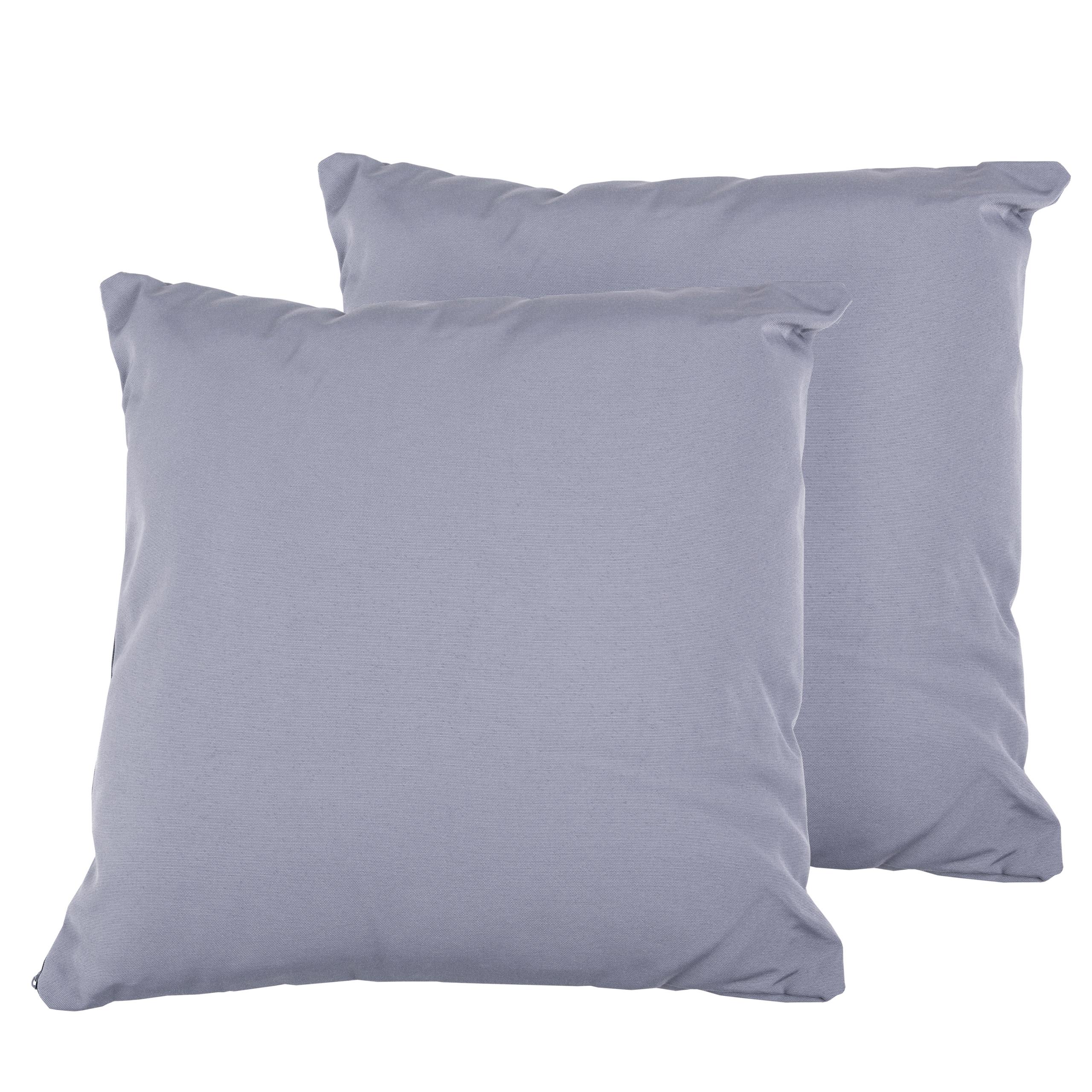 Beliani Set of 2 Outdoor Cushions 40 x 40 cm Grey