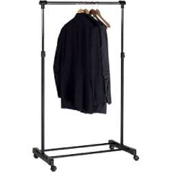 Unilux Coat Rack 50 Hooks Silver, Black  - Silver/ Black