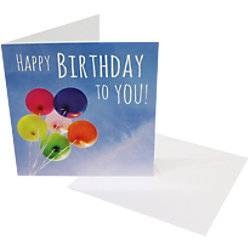 Greeting Card Birthday Happy Birthday To You 6 Pieces  - White