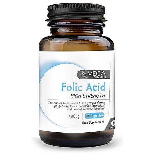 Vega+ Vitamins-Folic-Acid-30-x-400mcg-Capsules