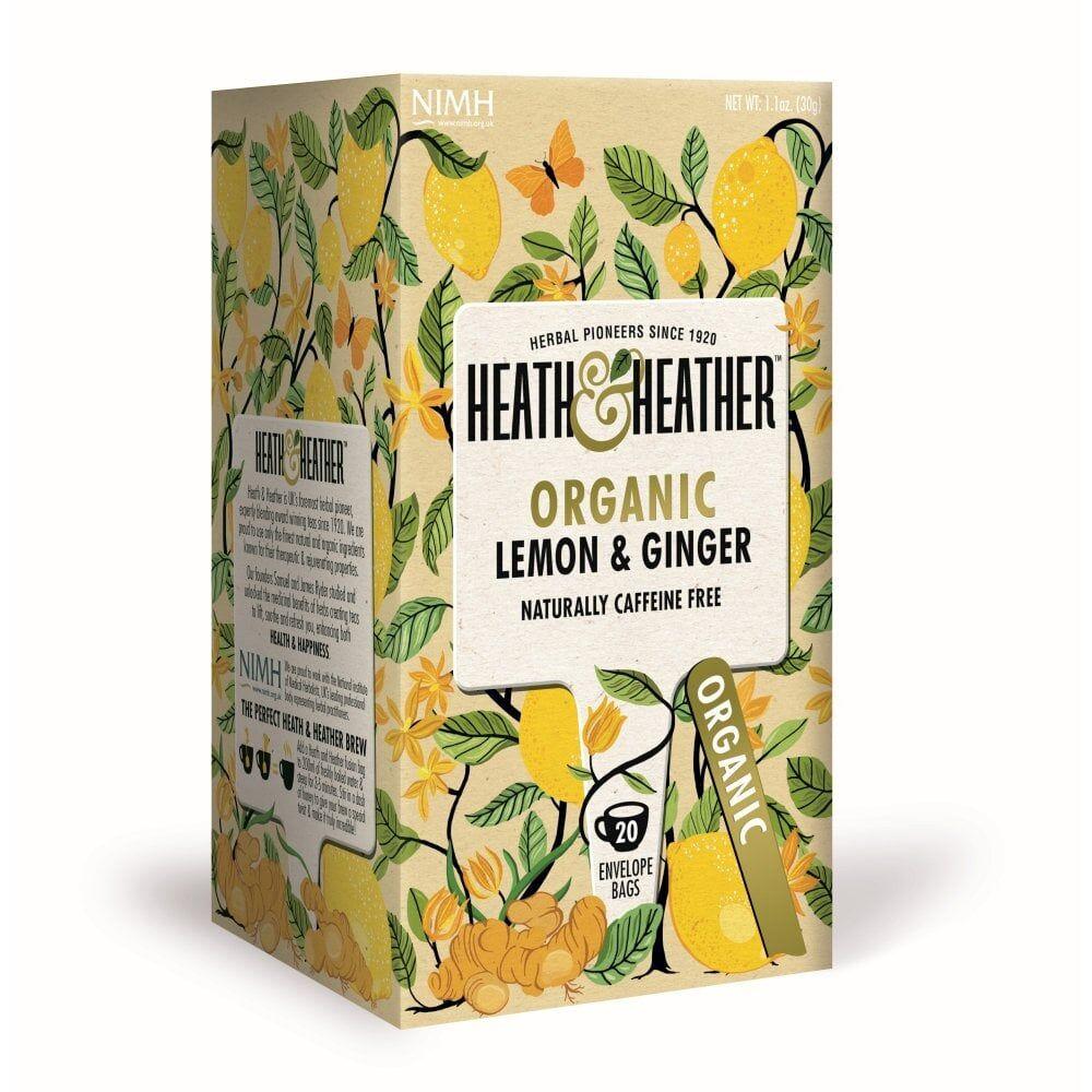 Heath & Heather Heath-and-Heather-Organic-Lemon-and-Ginger-20-Bags
