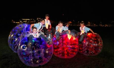 Krashball - Zorb Football Rentals Zorb Football Game with Glow-in-the-Dark Option for Up to 15 People with Krashball, Choice of Location