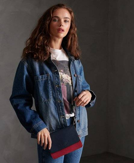 Superdry Evey Cross Body Bag in Navy (Size: 1SIZE)