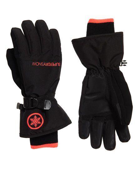 Superdry Ultimate Snow Service Gloves in Black (Size: M/L)