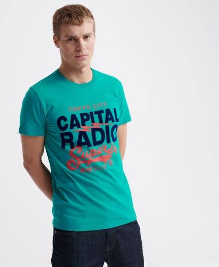 Superdry Music T-Shirt in Turquoise (Size: L)