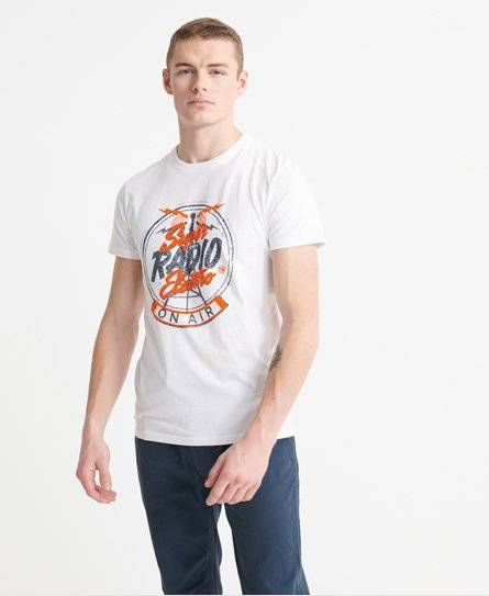 Superdry Music T-Shirt in White (Size: XS)