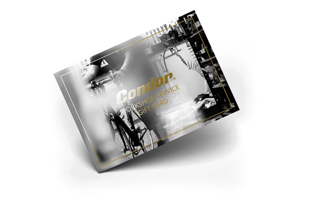 Condor Workshop Service Gift Card  - Size: GENERAL SERVICE