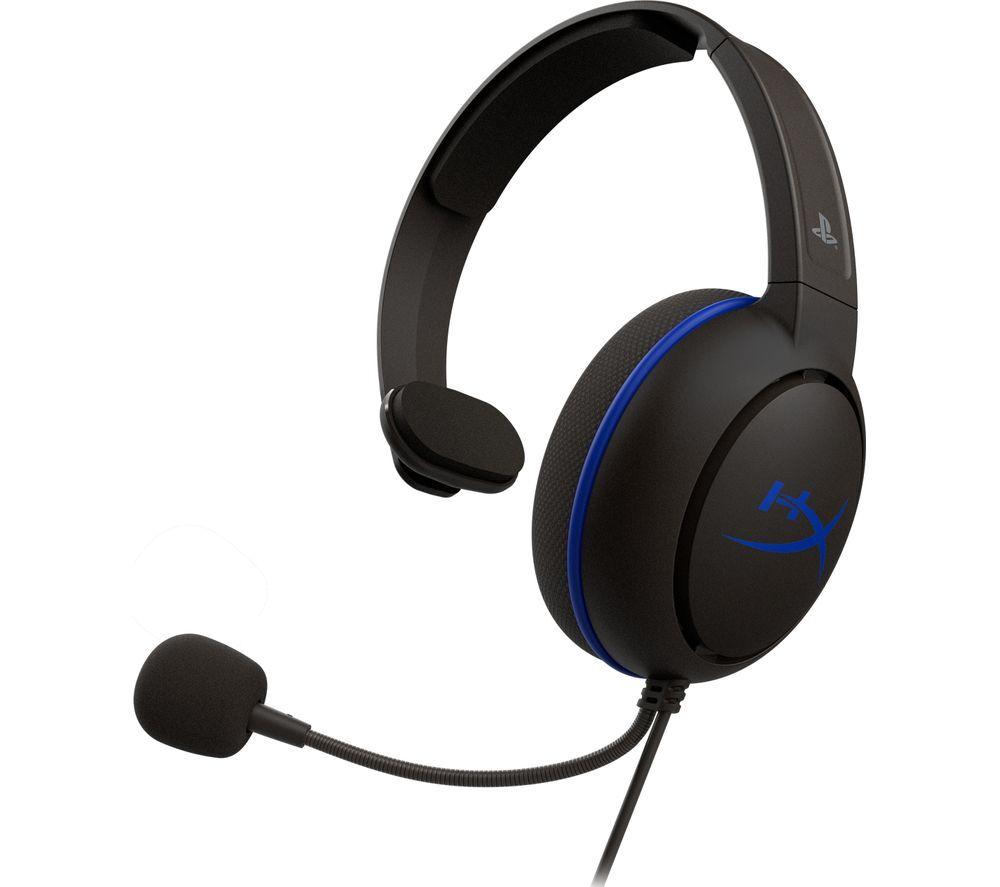 HYPERX Cloud Chat Gaming Headset - Black & Blue, Black